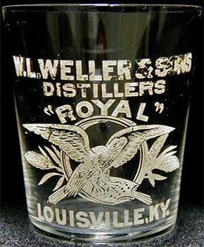 weller glass shot whiskey bourbon