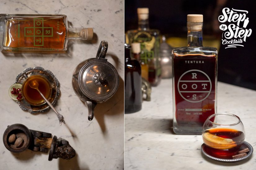 the likker step by step cocktails roots spirits herb tentura