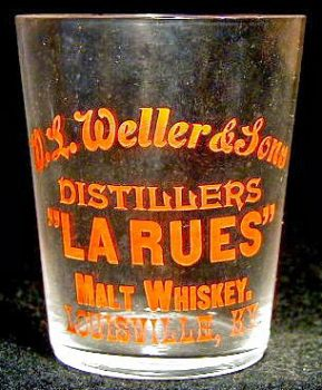 weller shot glass whiskey bourbon