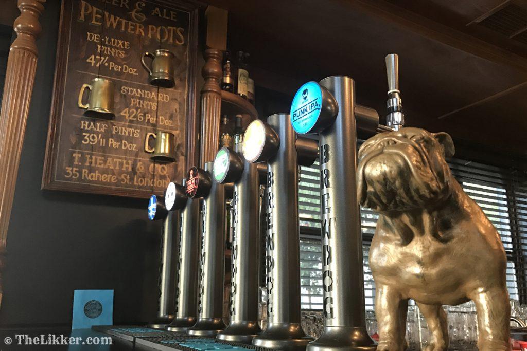 Lazy Bulldog Pub beer draught tap