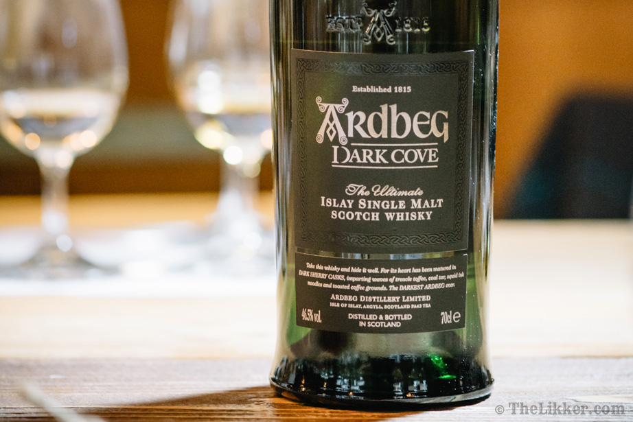 ardbeg dark cove whisky tasting