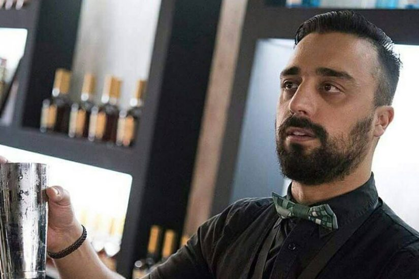 dionysis zafeiropoulos behind the bar