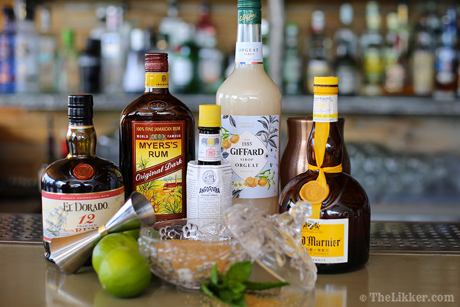 step by step cocktails mai tai myers's rum giffard grand marnier angostura el dorado Couleur Locale