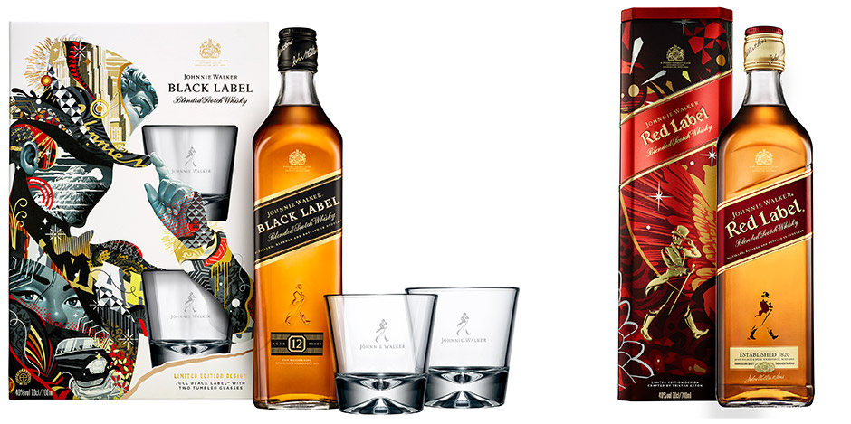 tristan eaton black label johnnie walker whisky