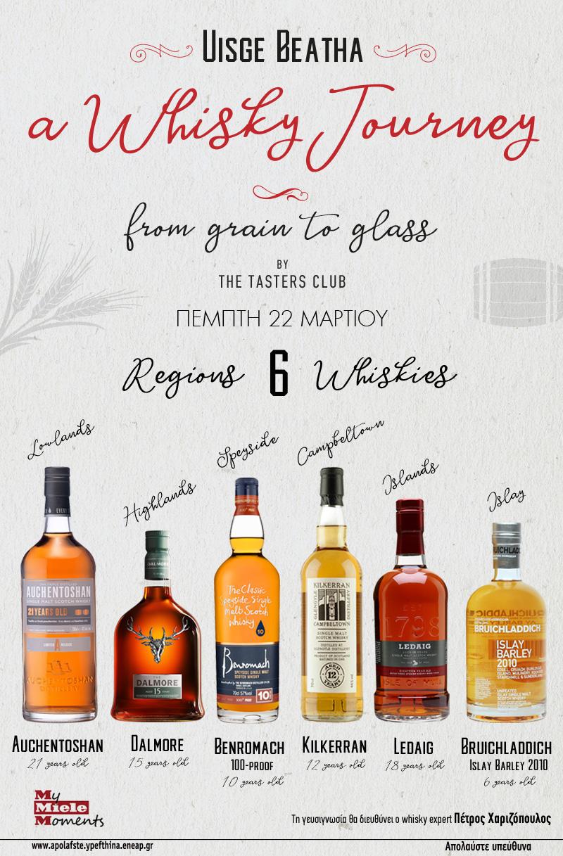 my miele moments whisky tasting the tasters club Auchentoshan Dalmore Benromach Kilkerran Ledaig Bruichladdich