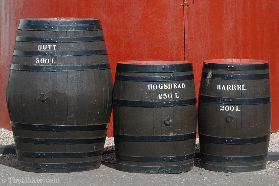 benromach distillery barrels