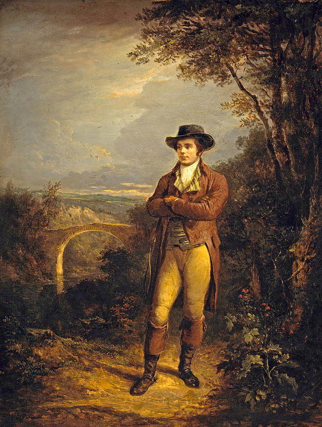 Robert Burns in Alexander Nasmyth painting