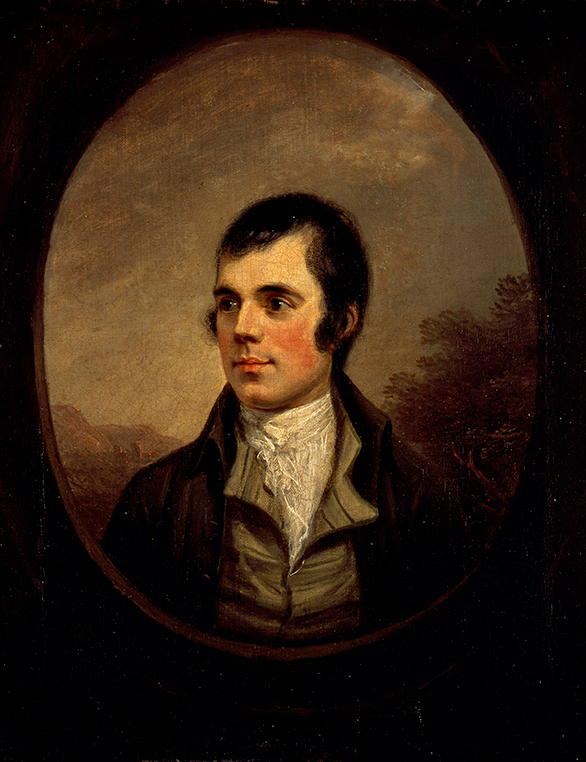 Robert Burns portrait by Alexander Nasmyth