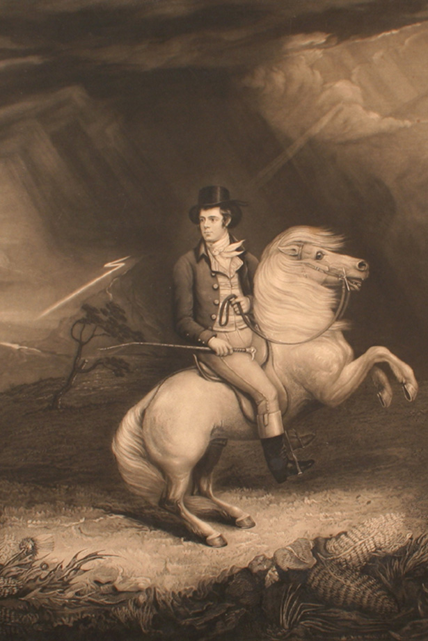 Robert Burns on a horse