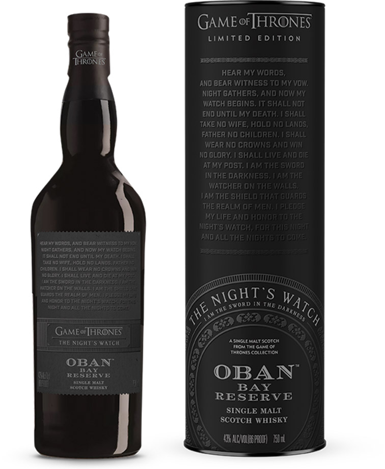 game of thrones single malt whisky Oban The Night's Watch the likker