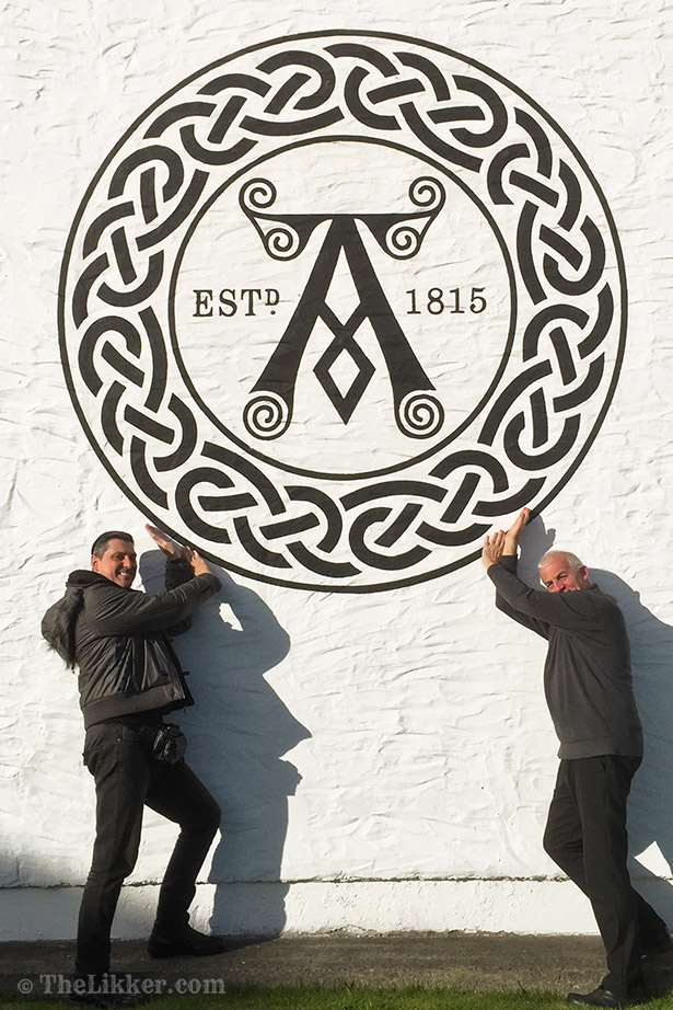 Michael 'Mickey' Heads Distillery Manager of Ardbeg with Yiannis Milionis of The Likker