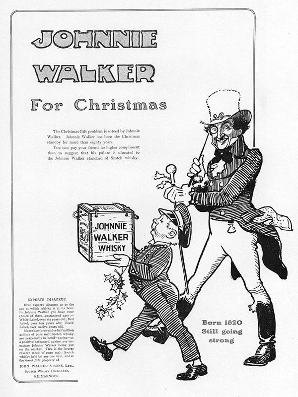 johnnie walker advertising with striding man