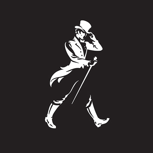johnnie walker striding man