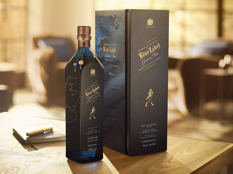 johnnie walker blue label ghost and rare brora