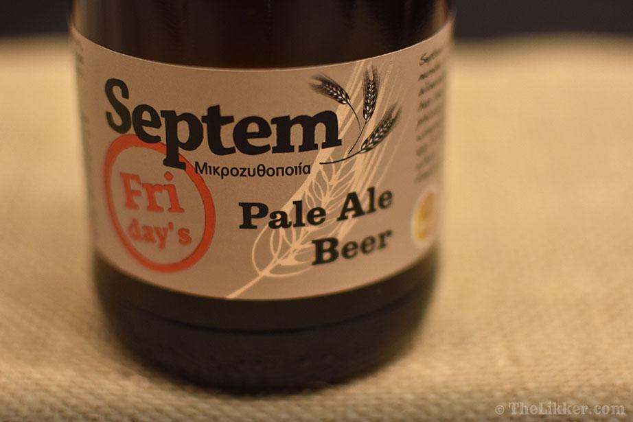 septem Fridays pale ale beer